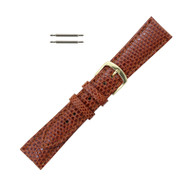 Hadley Roma Genuine Java Lizard Watch Band Tan 19mm