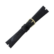 Hadley Roma Gucci Cut Genuine Java Lizard Black Watch Band 16mm