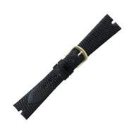 Hadley Roma Gucci Cut Genuine Java Lizard Black Watch Band 20mm