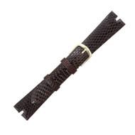 Hadley Roma Gucci Cut Genuine Java Lizard Brown Watch Band 19mm