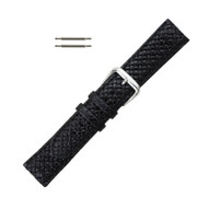 Hadley Roma Genuine Leather Tommy Bahama Watch Band Black 18mm