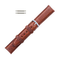 Hadley Roma Shrunken Grain Leather Watch Strap Tan 16mm