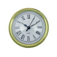 Economy quartz 2.75-inch clock movement inserts with Roman numerals