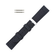 Hadley Roma Genuine Cordura Watch Strap 22mm Black