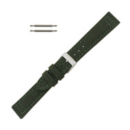 Hadley Roma Genuine Cordura Watch Strap 20mm Military Green
