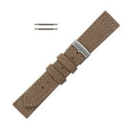 Hadley Roma Genuine Cordura Watch Strap 22mm Sand