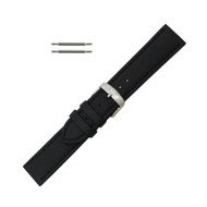 Hadley Roma Genuine Lorica Watch Band Hypo Allergenic 22mm Black