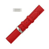 Hadley Roma Genuine Lorica Watch Band Hypo Allergenic 22mm Red