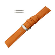 Hadley Roma Genuine Lorica Watch Band Hypo Allergenic 24mm Orange