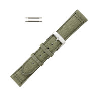 Hadley Roma Canvas Watch Band Olive Green 22mm