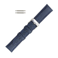 Hadley Roma Genuine Shark Watch Band Blue 18mm