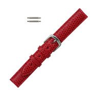 Hadley Roma Genuine Java Lizard Red Watch Band 12mm