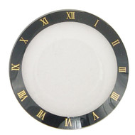 Watch Crystal Domed and Round Mineral Glass Crystal Black Trim with Gold Roman Numerals