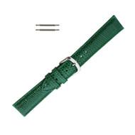 Hadley Roma Genuine Java Lizard Green Watch Band 12mm