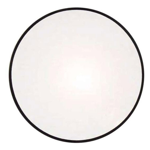 Domed round mineral glass crystals with 1mm black trim edge