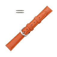 Hadley Roma Genuine Java Lizard Orange Watch Band 12mm
