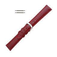 Hadley Roma Genuine Java Lizard Wine Watch Band 12mm