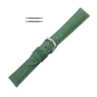 Hadley Roma Genuine Java Lizard Light Green Watch Band 12mm