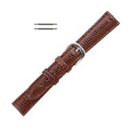 Hadley Roma Genuine Java Lizard Tan Watch Band 15mm