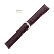 Hadley Roma Genuine Java Lizard Burgundy Watch Band 14mm