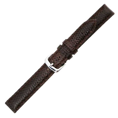 Hadley Roma Genuine Java Lizard Brown Watch Band 15mm