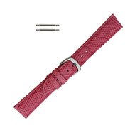 Hadley Roma Genuine Java Lizard Pink Watch Band 16mm