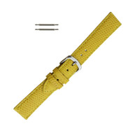 Hadley Roma Genuine Java Lizard Yellow Watch Band 16mm