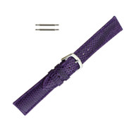 Hadley Roma Genuine Java Lizard Purple Watch Band 16mm