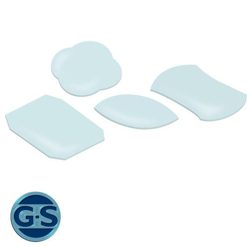 GS plastic F flat watch crystals for old-style watch cases