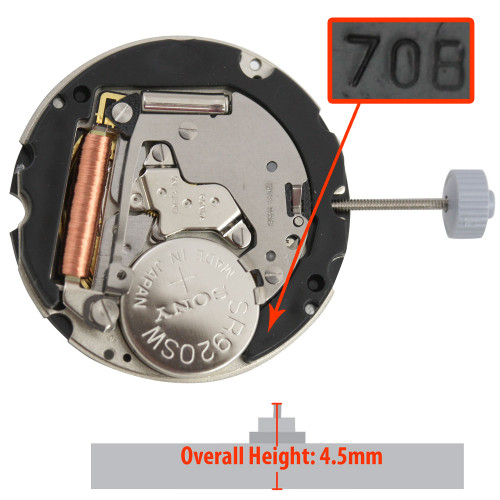 Harley Ronda HQ708 quartz watch movement