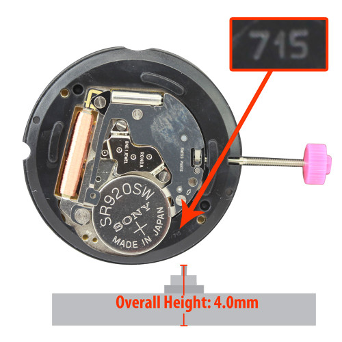 Harley Ronda Watch Movement HQ715-6 Quartz Movements
