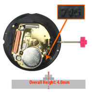 Harley Ronda 3 Hand Quartz Watch Movement HQ715G Gold Plates Date at 3:00 Overall Height 4.0mm