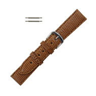 Hadley Roma Genuine Java Lizard Light Tan Watch Band 16mm