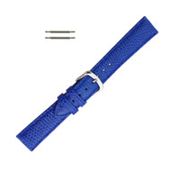 Hadley Roma Genuine Java Lizard Blue Watch Band 18mm