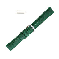 Hadley Roma Genuine Java Lizard Green Watch Band 18mm