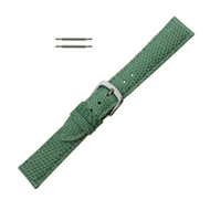 Hadley Roma Genuine Java Lizard Light Green Watch Band 18mm