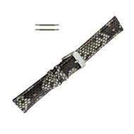 Hadley Roma Genuine Python Watch Strap Natural 16mm