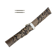 Hadley Roma Genuine Python Watch Strap Taupe 16mm