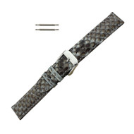 Hadley Roma Genuine Python Watch Strap Grey 18mm