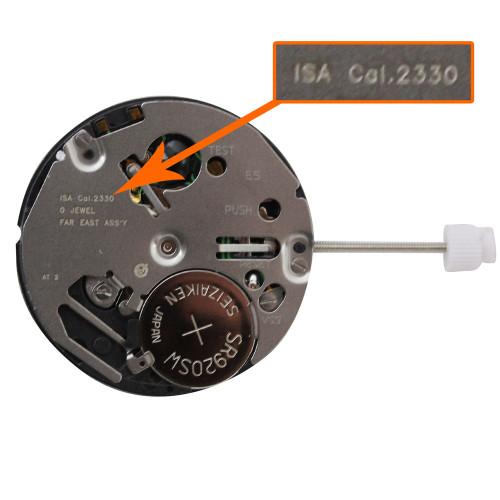 ISA Watch Movement ISA2330/103 Quartz Movement