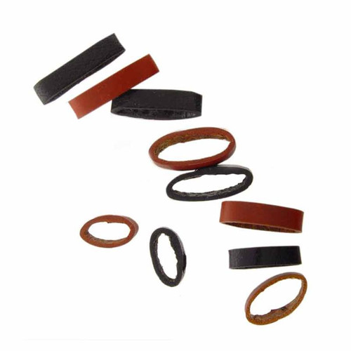 Assorted leather loop watch strap keepers