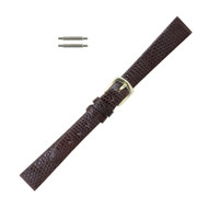 Hadley Roma Genuine Java Lizard Watch Strap 13mm Brown Ladies Long