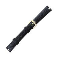 Hadley Roma Gucci Cut Watch Band Genuine Java Lizard 10mm Black