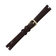 Hadley Roma Made To Fit  Gucci® Cut Watch Band Genuine Java Lizard 12mm Brown
