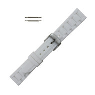 Hadley Roma Link Style Design Silicone Watch Band White 16mm