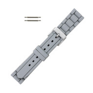 Hadley Roma Link Style Design Silicone Watch Band Gray 18mm