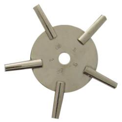 Five-prong odd pocket watch key