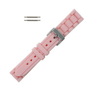 Hadley Roma Link Style Design Silicone Watch Band Pink 18mm