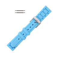 Hadley Roma Link Style Design Silicone Watch Band Turquoise 18mm