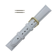 Watch Band 16MM Classic Calf  White Leather